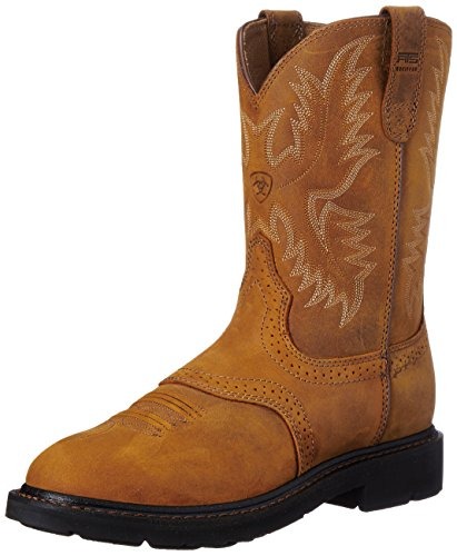 Worn Saddle Boot - Ariat Men's Sierra Saddle Work Boot, Aged Bark, 10 EE US