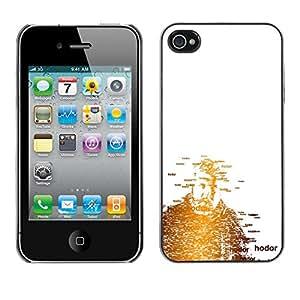 Caucho caso de Shell duro de la cubierta de accesorios de protección BY RAYDREAMMM - iPhone 4 / 4S - Hodor