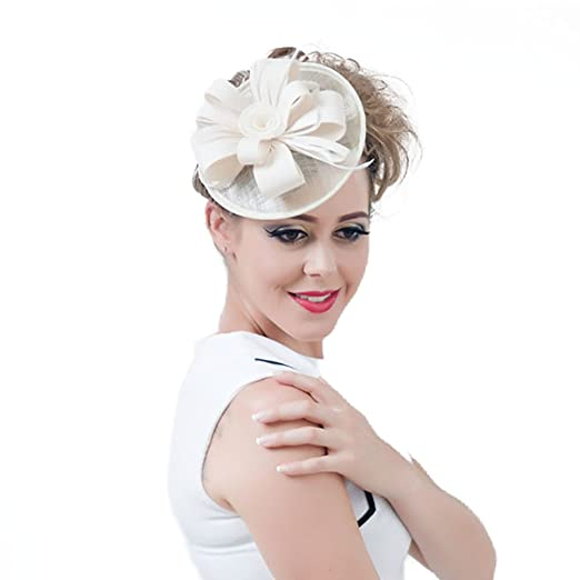 Womens Fascinator Pillbox Hat Headband Hair Clip for Cocktail Tea Party at  Amazon Women s Clothing store  5f0ead874e2