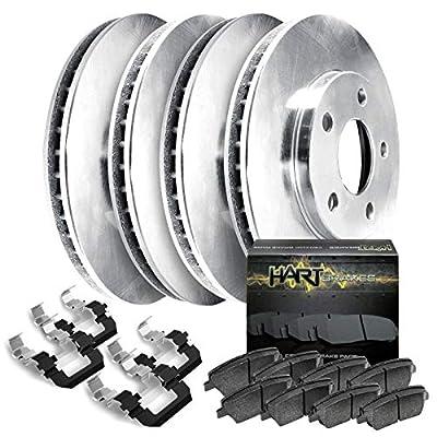 Fits 2003-2006 Lexus ES300,ES330 Front Rear Plain Brake Rotors Kit+Ceramic Pads: Automotive