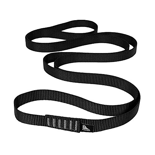 Fusion Climb Quickdraw Runner 5000 lbs Rated Stitched Loop Nylon Webbing 80cm x 1.7cm Black