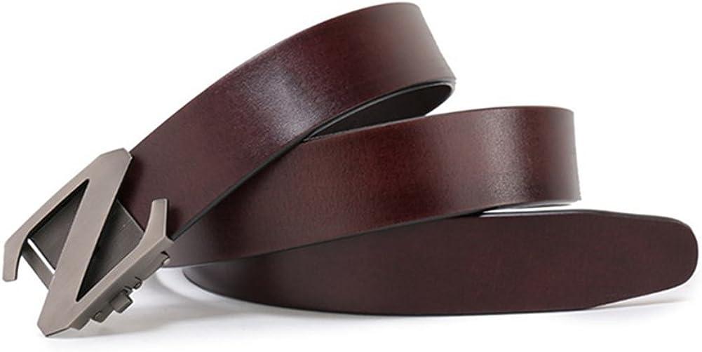 XUEXUE Mens Belt Leather Automatic Buckle Belt,Work Active Basic Leather,Casual Formal Belts,Business Belt,Cowboy Wear /& Work Clothes Uniforms,C,125