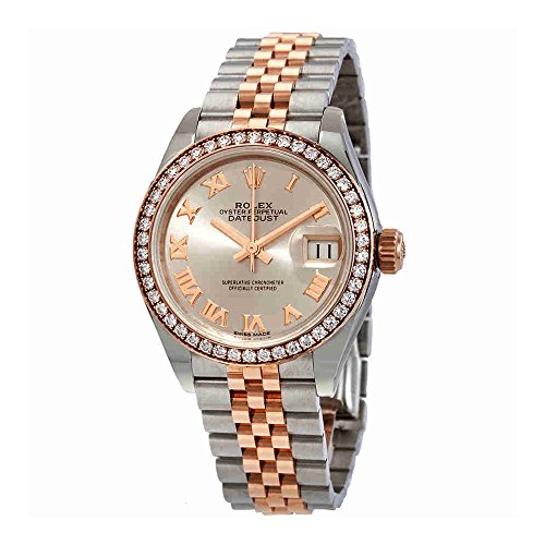 Rolex Lady Datejust Sundust Dial Automatic Ladies Steel and 18K Everose Gold Jubilee Watch 279381SNRJ