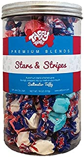 product image for Taffy Town Gourmet Salt Water Taffy Gift Jars, 18 Ounces (Stars & Stripes)