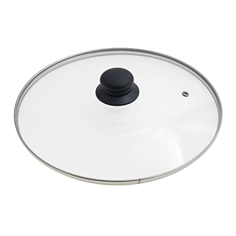 ORYX Tapadera de Cristal para Sartén 28cm, Blanco, 28 cm