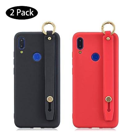 Leton [2 Pack] Funda Huawei P Smart 2019 Negra Rojo, Carcasa ...