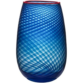 Amazon Com Kosta Boda Mirage Large Vase Blue Amber Home