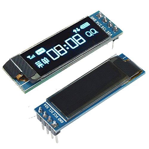 """0.91/"""" IIC I2C SPI128x32 White//Blue OLED LCD Display Module For Arduino PIC"""