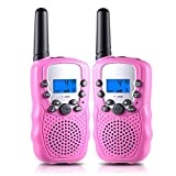 AGALORY Walkie Talkies for Kids 22 Channel 2 Way Radio 3 Miles, Best Toys for 3-12 Year Old Boys Girls, for Kids Age 5-8 (Pink)