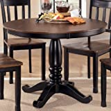 Ashley Furniture Signature Design – Owingsville Dining Room Table Top – Component Piece – Base Only – Brown