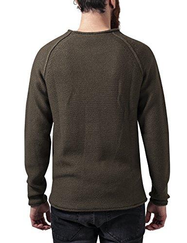 Raglan Urban olive Wideneck Vert Homme Sweater Classics Shirt qxTxwCfB