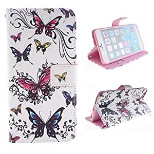GJY The Butterfly Design Only Color More PU Leather Case with Card Slot and Stand for iPhone 6 Plus