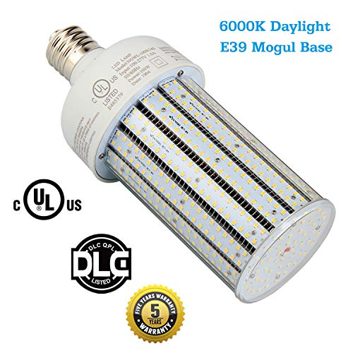 400 Watt Metal Halide Replacement 100W LED Corn Cob E39 Mogul Base Parking Lot Street Area Lights,Warehouse Highbay Fixture,Gas Station Canopy,6000K Daylight White,AC100-277V (100Watt 6000K) ()