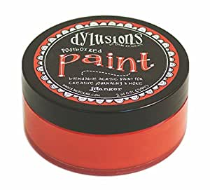 Ranger Dyan Reaveley's Dylusions Paint, 2 oz, Postbox Red