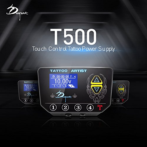 Supply Power Tattoo Digital (Professional Digital LED Tattoo Power Supply T-500 (Black))