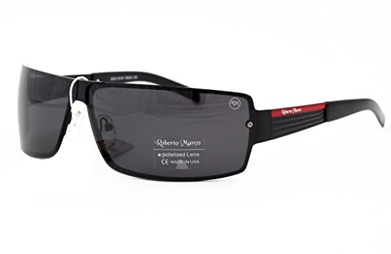 3290c9024a1 Roberto Marco Polarized Sunglasses for Drivers Light Grey Lenses. Fashion  Design - Anti-Glare Lens Black Metal Frame  Amazon.co.uk  Clothing