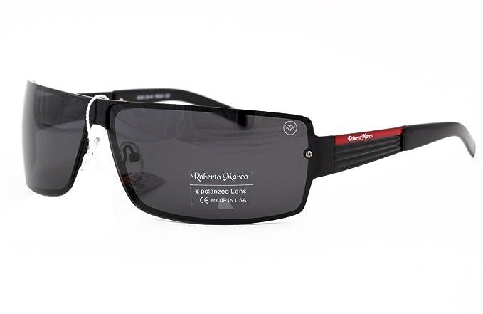 7cddfc35384 Roberto Marco Polarized Sunglasses for Drivers Light Grey Lenses. Fashion  Design - Anti-Glare Lens Black Metal Frame  Amazon.co.uk  Clothing