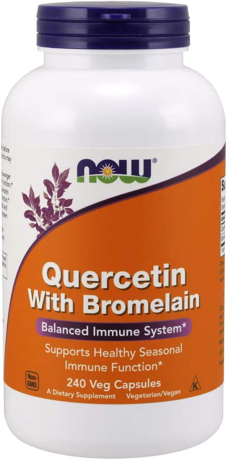 NOW Supplements, Quercetin with Bromelain, 240 Veg Capsules