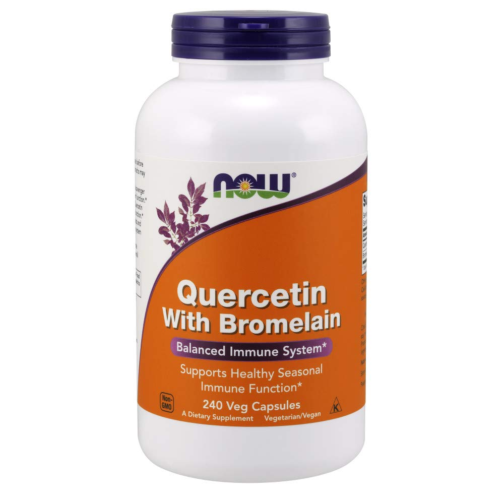 NOW Supplements, Quercetin with Bromelain, 240 Veg Capsules by NOW Foods