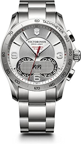 Victorinox Swiss Army Men's Classic 241704 Silver Stainless-Steel Swiss Quartz Watch