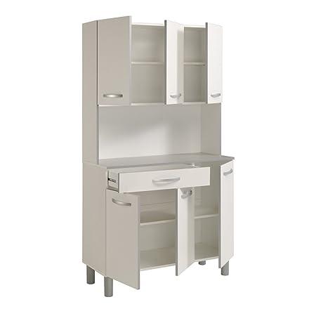 Küchenschrank spice 1 weiß grau 101x185x40 cm schrank ...