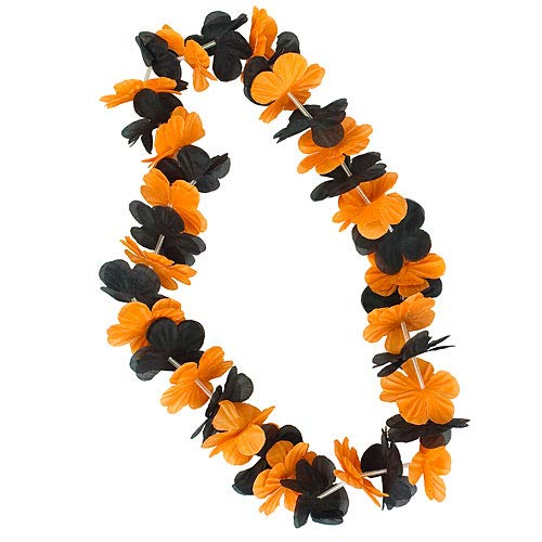 SHANGYU XIAOYUE BOSEN ART Orange & Black Two-Tone Leis