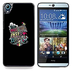 "Qstar Arte & diseño plástico duro Fundas Cover Cubre Hard Case Cover para HTC Desire 826 (Tipografía Salvaje"")"