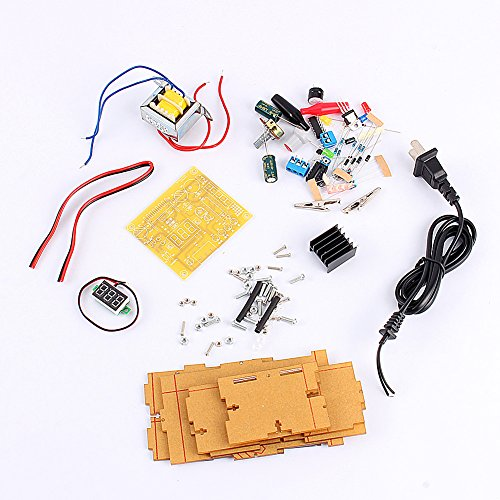 LM317 Adjustable Regulated 1.25V-12V Voltage Power Supply Board Kit With Case by Walfront