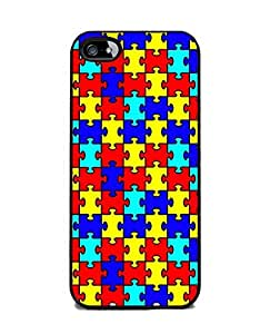 Generic Autism Awareness Puzzle Pieces Durable Cover Case for iPhone 6 (4.7 Inch Screen)