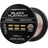 Monster - Black Platinum XP Clear Jacket 50\' Spool In-Wall Compact Speaker Cable - Clear/Copper