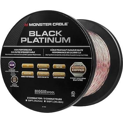 Amazon.com: Monster - Black Platinum XP Clear Jacket 50\' Spool In ...