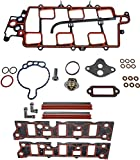 APDTY 726318 & 726828 Intake Manifold Gasket Complete Set For Stated 1997-2005 3.8L 3800 Engines (Includes Upper & Lower Intake Gaskets & All Other Needed Gaskets) (Includes Stainless Steel Coolant Tubes)