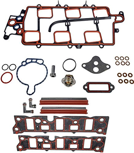 APDTY 726318 & 726828 Intake Manifold Complete Gasket Set For Stated 1997-2005 3.8L 3800 Engines (Includes Upper & Lower Intake Gaskets & All Other Needed Gaskets) (Includes Stainless Steel Coolant Tubes)