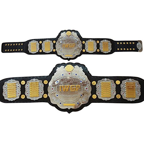- Brand New IWGP JR Heavyweight Championship Belt Adult Size Thick Brass Plates Black