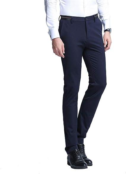 Yaxuan Pantalones De Vestir Para Hombre De Moda Pantalones Formales De Verano Pantalones De Traje Ajustado Pantalones De Negocios Casuales De Boda Trajes Pantalones De Hombre A 30 Amazon Com Mx Jardin