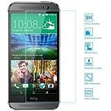 EasyAcc HTC ONE M8/M8S Glas Folie Schutzfolie Panzerglasfolie Displayschutzfolie für HTC ONE M8/M8S Klar Anti-Kratz-Screen Protector Displayschutz Displayfolie - 9H Hardness aus gehärtetem Glas