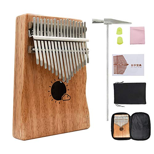 Kalimba 17 Keys Thumb Piano Mbira Solid Mahogany Wood for sale  Delivered anywhere in USA