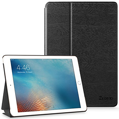Ztotop iPad 9.7 Case 2018 iPad 6th Generation Case / 2017 iPad 5th Generation Case,Smart Ultra Slim Lightweight Flip Stand Cover with Hard Back for ipad 9.7 Black