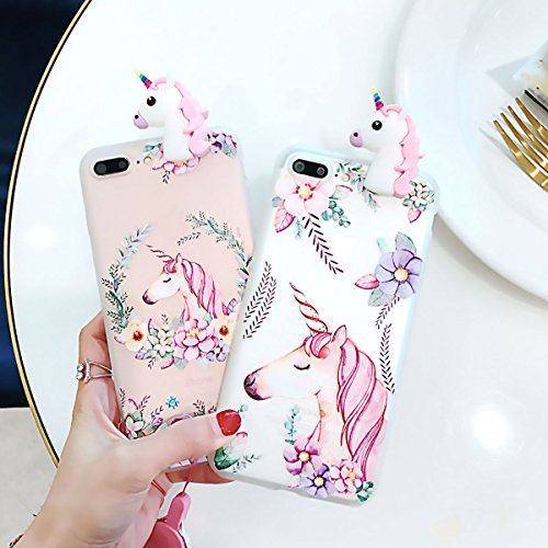 Freebily 3D Unicorn TPU Schutzhülle Handyhülle für iPhone 5 / 5S / 6 / 6S / 6 Plus / 6S Plus / 7 / 8 / 7 Plus / 8 Plus / X Type A für iPhone 5/5S XcZvu