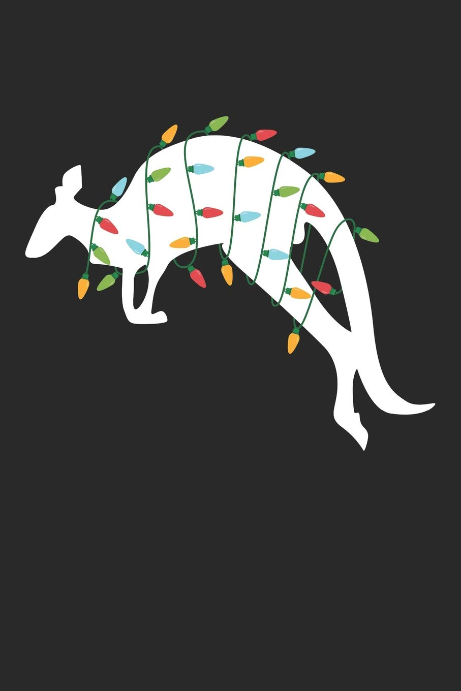 Christmas Kangaroo Lights.Christmas Notebook Kangaroo With Christmas Lights