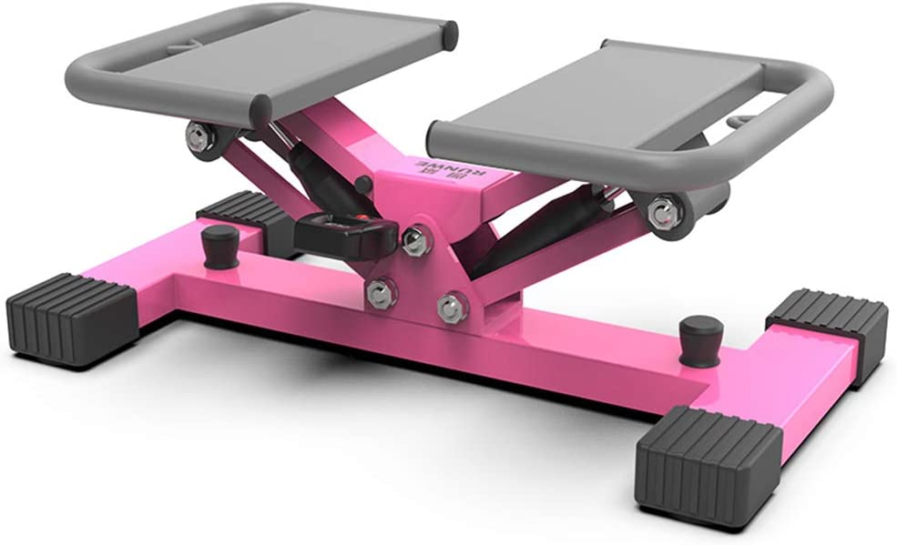 HMNS Aerobic Stair Stepper Machines for Women and Man, Mini Step Fitness Machines with Resistance Bands and LCD Monitor V-Type Sport Mode for Full-Body Workout