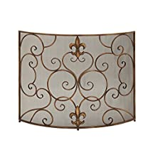 Deco 79 Metal Fire Screen, 39 by 33-Inch