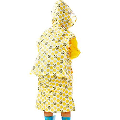 Impermeabili Sacchetto Le Impermeabile Lungo Dei Studenti Antipioggia Cappello Spessore Bambini Poncho Borsa Di Stampa Ragazzi Ragazze Trasparente Giacca Gialla Per q0vRaxwwt