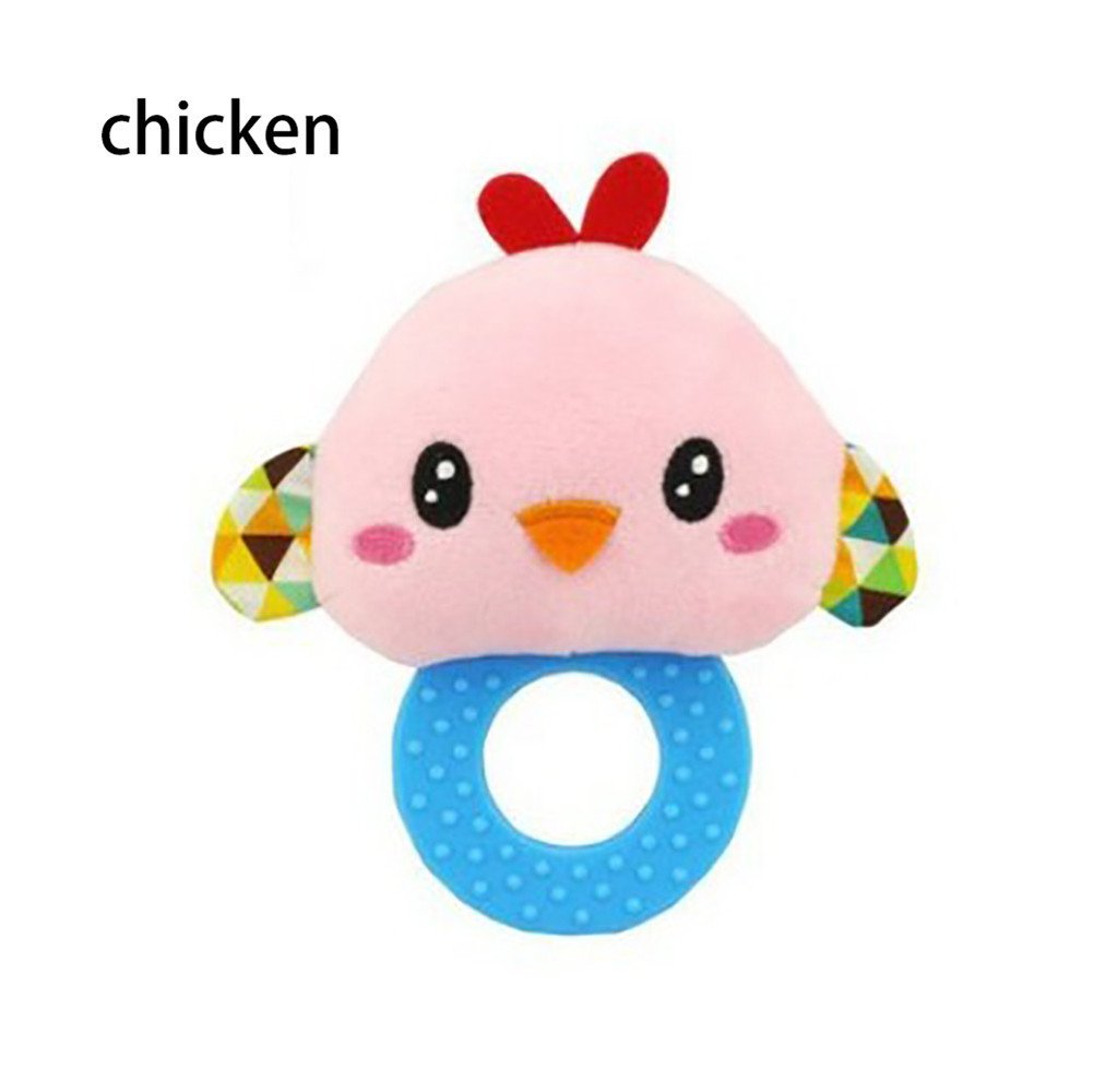 Ghazzi Toddler Infant Interactive Cute Cartoon Animal Rattles Toy Developmental Intelligence Toy for Kids Puzzle Educational Learning Toy Growing Experiment Gift Toy Pretend Toy Toddlers Toy (C)