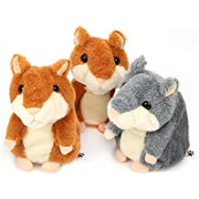 3PCS TALKING HAMSTER REPEATS WHAT YOU SAY ELECTRONIC PET TALKING PLUSH TOY BUDDY MOUSE FOR KIDS, 3 X 5.7 INCHES, BATTERIES NOT INCLUDED