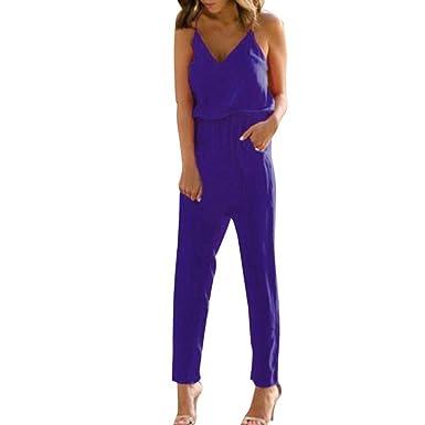Jumpsuit Mujer Largo Traje Vintage Modernas Pantalón ...