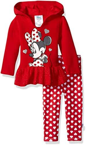 Disney Baby Girls' Minnie Mouse 2 Piece Hooded Top and Legging Set