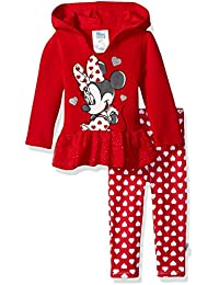 Baby Girls' Minnie Mouse 2 Piece Hooded Top and Legging Set