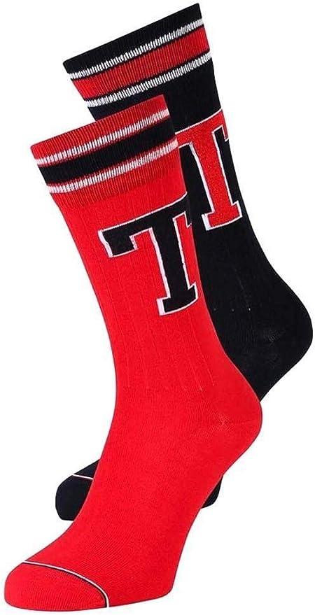 Tommy Hilfiger Pack Calcetines TH Rojo Hombre 39 42 Rojo: Amazon.es: Ropa y accesorios