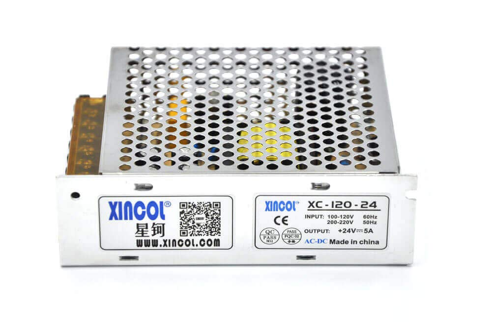 CCTV,Camera,Computer Project etc XINCOL AC to DC Converter AC110V//220V to DC24V 5A 120W DC Switching Power Supply Transformer Regulated for LED Strip Light